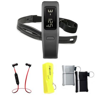 Vivofit Fitness Band Bundle with Heart Rate Monitor (Slate) w/ Power Bank Bundle