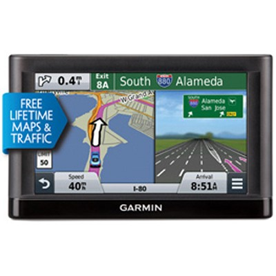 nuvi 55LMT GPS Navigation System with Lifetime Maps and Traffic 5` Display