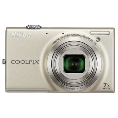 COOLPIX S6100 16MP Digital Camera with 720p HD Video (Silver) Refurbished