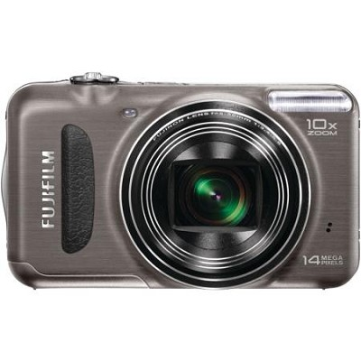 FinePix T200 14 MP Digital Camera with 10x Optical Zoom (Gunmetal)