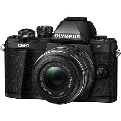 OM-D E-M10 Mark II Mirrorless Digital Camera with 14-42 IIR Lens (Black)