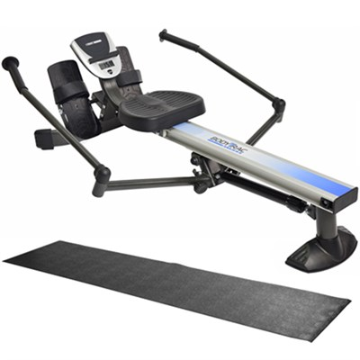 BodyTrac Glider Rowing Machine (35-1060) with Fold-To-Fit Equipment Mat