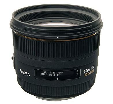 50mm F1.4 EX DG HSM Lens for Nikon Digital SLR Cameras - OPEN BOX