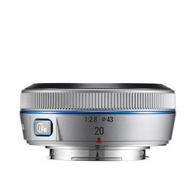 Wide 20mm F2.8 NX Pancake Lens for NX Series Cameras Silver