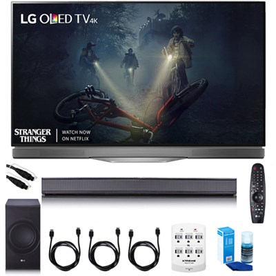 55` E7 OLED 4K HDR Smart TV - OLED55E7P w/LG SJ8 Sound Bar Bundle