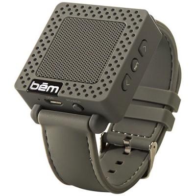 Band Bluetooth Wrist Speaker Watch (Grey) - BEMSWGY