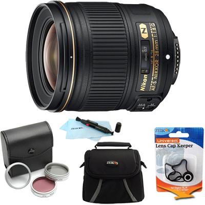 AF-S NIKKOR 28mm f/1.8G Lens w/ Nikon 5-Year USA Warranty Pro Kit