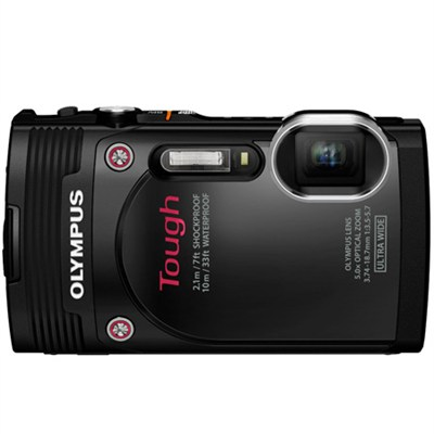 TG-850 16MP Water/Shock/Freezeproof Digital Camera with Case - Black Refurbished
