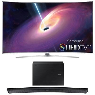 UN55JS9000 Curved 55` 2160p 3D 4K SUHD LED TV HW-J6000 Soundbar Bundle