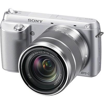 NEX-F3K Digital Camera built in flash with 18-55mm Lens (Silver)
