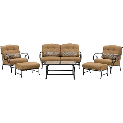 Oceana 6-Piece Seating Set with Tile-top Coffee Table - OCEANA6PC-TL-TAN