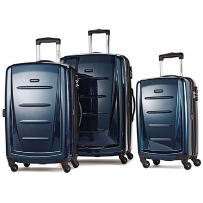 Winfield 2 Fashion Hardside 3 Piece Spinner Set - Deep Blue (56847-1277)