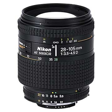 28-105mm F/3.5-4.5D AF Zoom-Nikkor Lens, With Nikon 5-Year USA Warranty