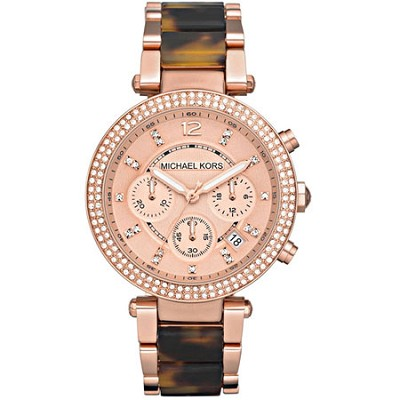 Parker Tortoise Acetate Women's Watch - MK5538