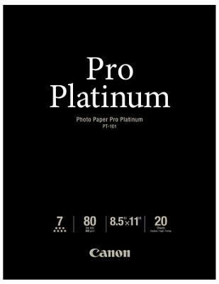 Photo Paper Pro Platinum 8.5` X 11` - 20 Sheets