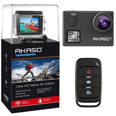 V50 Action Camera-Native 4K/30fps 20 MP with Wifi