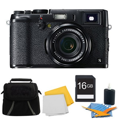 X100S 16MP Full HD 1080p Video Digital Camera 16GB Black Kit