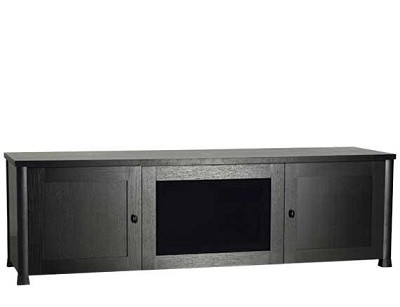 CFV69 - Lowboy 3-Shelf Cabinet for AV Equipment & TVs up to 75` (Espresso/Black)