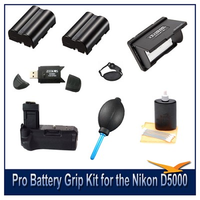Fully Loaded Pro Battery Grip Kit for the Nikon D5000