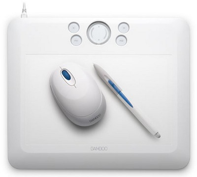 Bamboo Fun Medium White Tablet CTE650W
