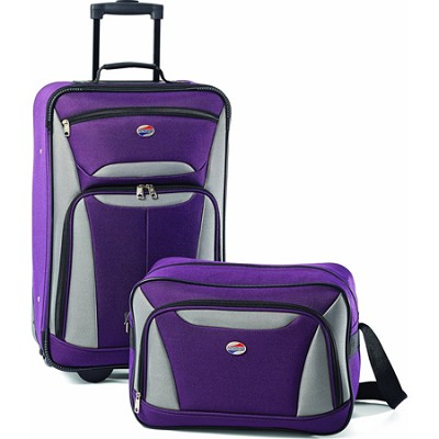 Fieldbrook II Two-Piece Luggage Set (Purple/Grey)