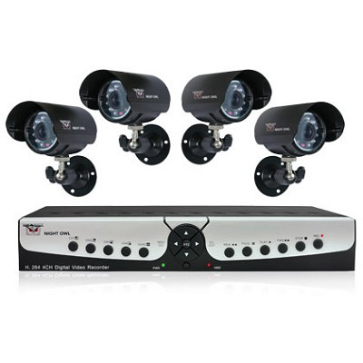 Apollo-45 4 channel H.264 DVR Kit with 500GB HDD 4 Night Vision Cameras Refurb