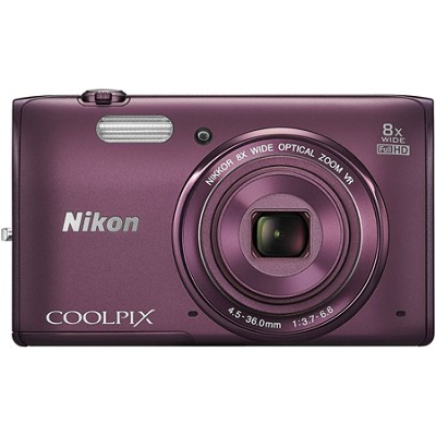 COOLPIX S5300 16MP 8x Zoom Full HD 1080p WiFi Digital Camera Factory Refurbished