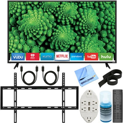 D55f-E2 D-Series 55` Full Array LED Smart TV + Ultimate Slim Flat Wall Mount Kit