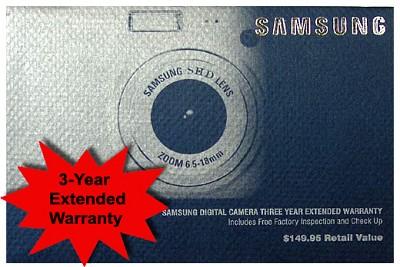 3 Year Extended Warranty on Samsung Digital Cameras