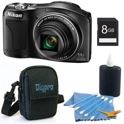 COOLPIX L610 16MP 14x Zoom 3.0-inch LCD Black Digital Camera Kit