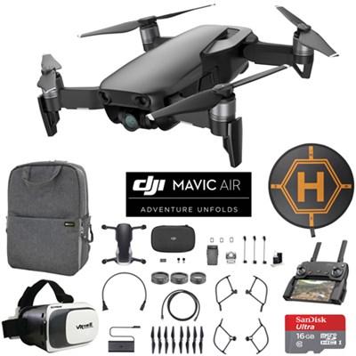 Mavic Air Onyx Black Drone Mobile Go Bundle Case VR Goggles Landing Pad 16G Card