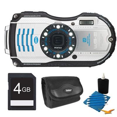 WG-3 16MP White  Waterproof Shockproof Crushproof Digital Camera Kit