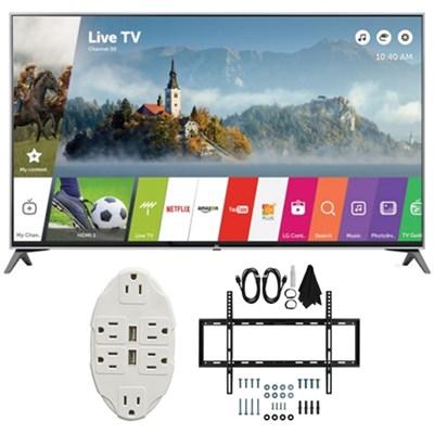 49` Super UHD 4K HDR Smart LED TV 2017 Model 49UJ7700 with Wall Mount Bundle