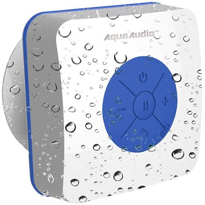 AQUACUBE Water Resistant Shower Speaker with Suction Cup (Blue) UG-AQUACUBE-BLU