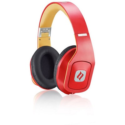 Hammo Over Ear Stereo Hi-Fi Stereo Headphones (Red)