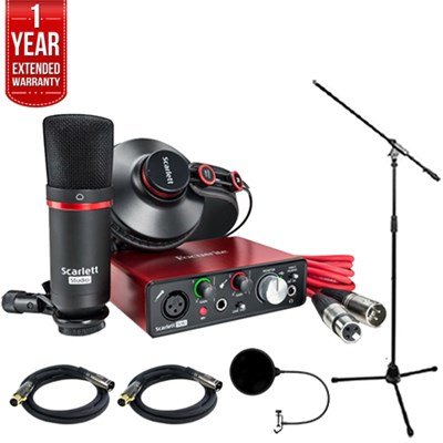 Scarlett Solo Studio Pack 2nd Generation & Recording Bundle w/ Pro Tools