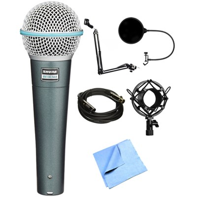 BETA 58A Supercardioid Dynamic Microphone with Stand Bundle