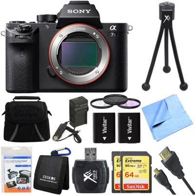 a7S II Full-frame Mirrorless Interchangeable Lens Camera Deluxe 64GB Bundle