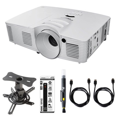HD (1080p), 3200 ANSI Lumens, 3D-Home Theater Projector w/ Ceiling Mount Kit