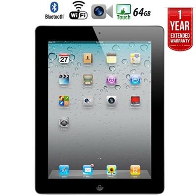iPad 2 Tablet 2nd Gen (64GB, Wifi, Black) + Extended Warranty  - Refurbished