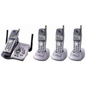 KX-TG5634M 5.8 GHz FHSS GigaRange Digital Cordless Answering System w/ 4 Handset