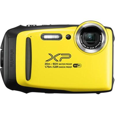 FinePix XP130 Waterproof Digital Camera Kit (Yellow) with 16GB SD Memory Card