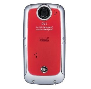 Active DV-1 VR Waterproof/Shockproof 1080P Pocket Video Camera Velvet Red