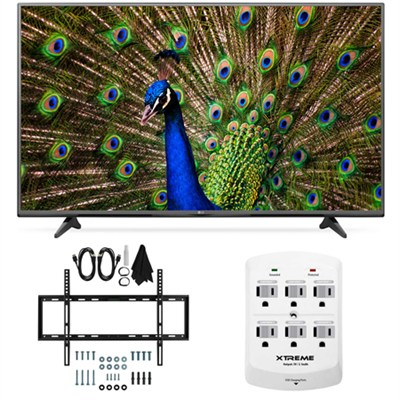 49UF6400 - 49-Inch 120Hz 4K Ultra HD Smart LED TV Slim Flat Wall Mount Bundle