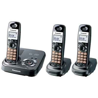 KX-TG9333T DECT 6.0 Expandable Digital Cordless Phone With 3 Handsets