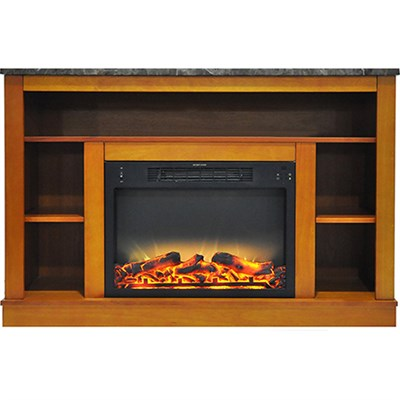 47.2 x15.7 x32.5  Seville Fireplace Mantel with Logs and Grate Insert