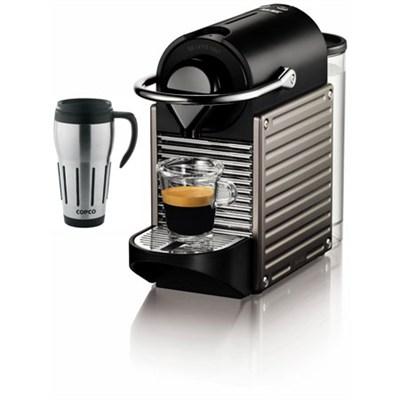Pixie Espresso Maker with Big Joe Thermal Travel Mug Bundle