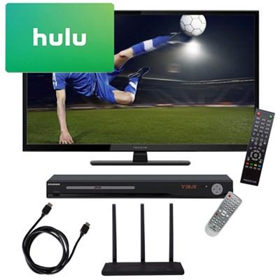 PLDED3273A 32` 720p 60Hz Direct LED HDTV Terk Antenna DVD Player 3 Month Netflix