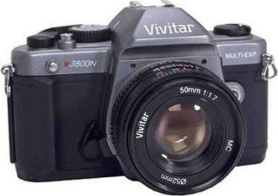 V3800N w/ 50mm Lens 35mm SLR Manual Focus Camera Kit