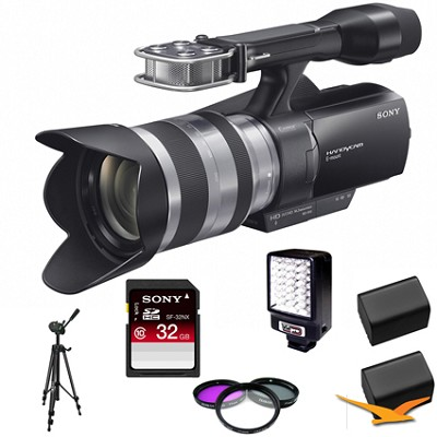 NEX-VG10 Full HD Interchangeable Lens Camcorder w/ 18-200mm E-Mount Lens BUNDLE